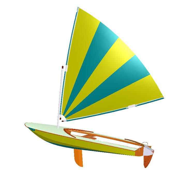 clic clac light dinghy design papillon sail dinghy boat plan. Black Bedroom Furniture Sets. Home Design Ideas