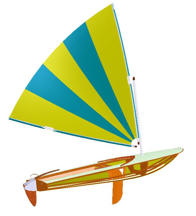 Clic clac light dinghy design papillon sail dinghy boat plan - Clic clac housse ...