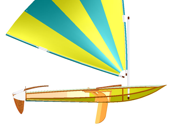 Clic clac light dinghy design papillon sail dinghy boat plan - Clic clac design contemporain ...